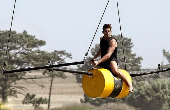 Fear Factor Khatron Ke Khiladi Karanveer performing Roller stunt at height