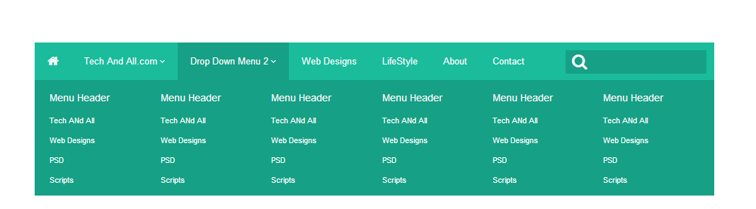 Free Pure .CSS DropDown Menu (Flat Design) /w PSD