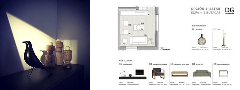 Dise o de interiores valencia dg arquitecto valencia - Interiorismo low cost ...