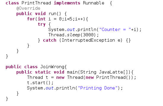 Java-Latte: How to Join Threads in Java