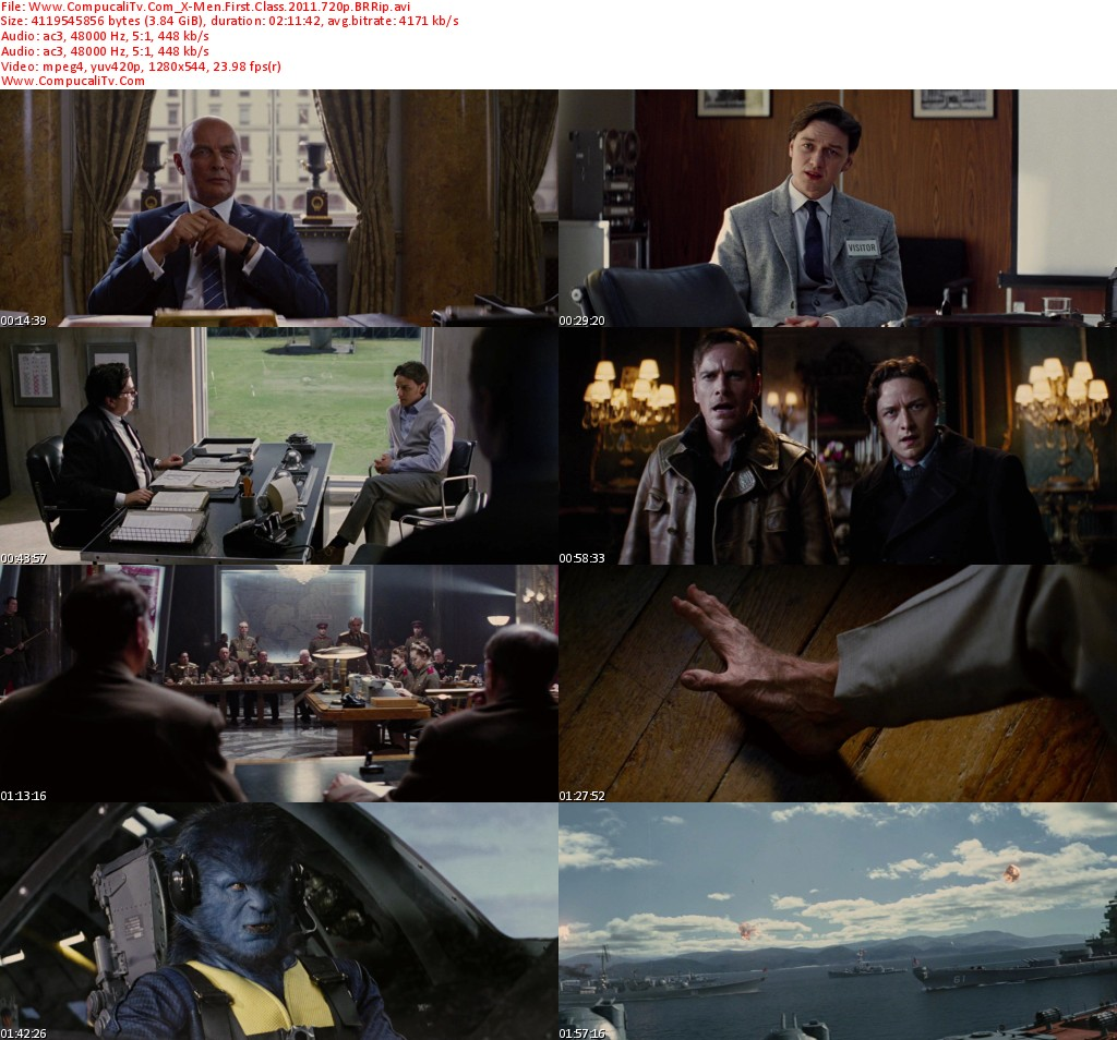 X Men Primera Generacion [First Class] 2011 [BRRip] Español Latino [720p HD]