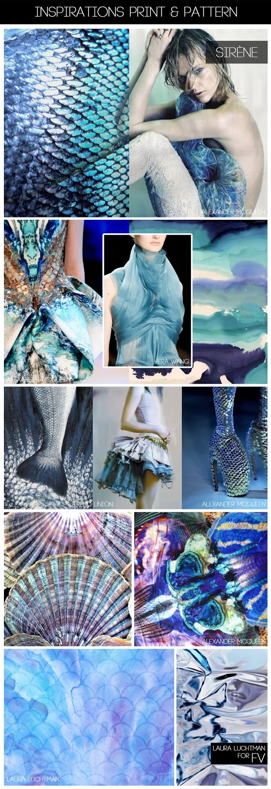 Print & Pattern Inspiration: Sirène © Laura Luchtman for Fashion Vignette