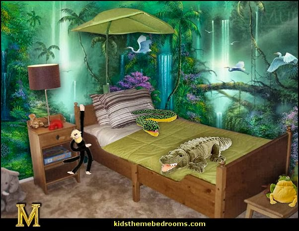 Bedroom design jungle home decoration live for Jungle living room ideas