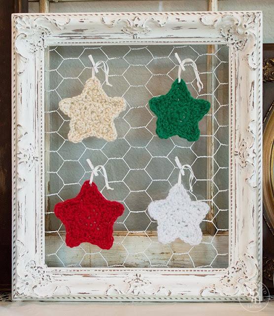 christmas star ornament free crochet pattern