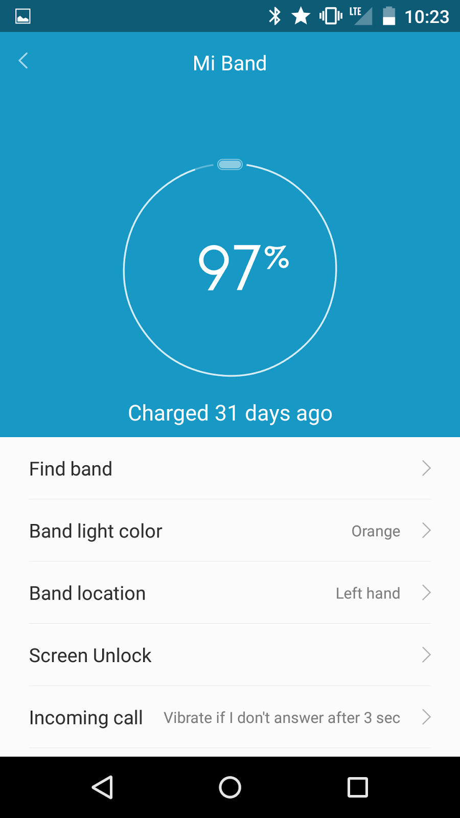 Xiaomi Mi Band Review Jack Chus Blog Nexus 5 Circuit Diagram During The Day I Set Miband Mifit To Intercept Notification See How It Affects Battery On My And Started With 100 Charged Phone