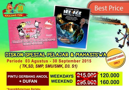 Promo Terbaru Tiket Masuk Dufan Agustus - September 2015