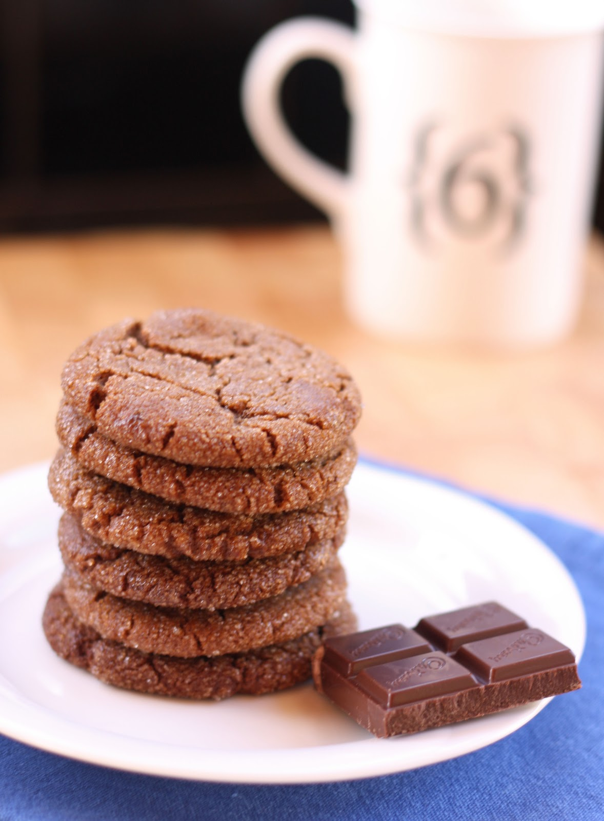 Chocolate and Ginger Cookies - A Spoonful of Sugar