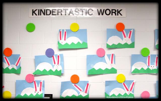 "photo of: ""Kindertastic Work"" Bulletin Board Wall via RainbowsWithinReach"