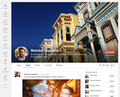 aggiornamento profilo google+
