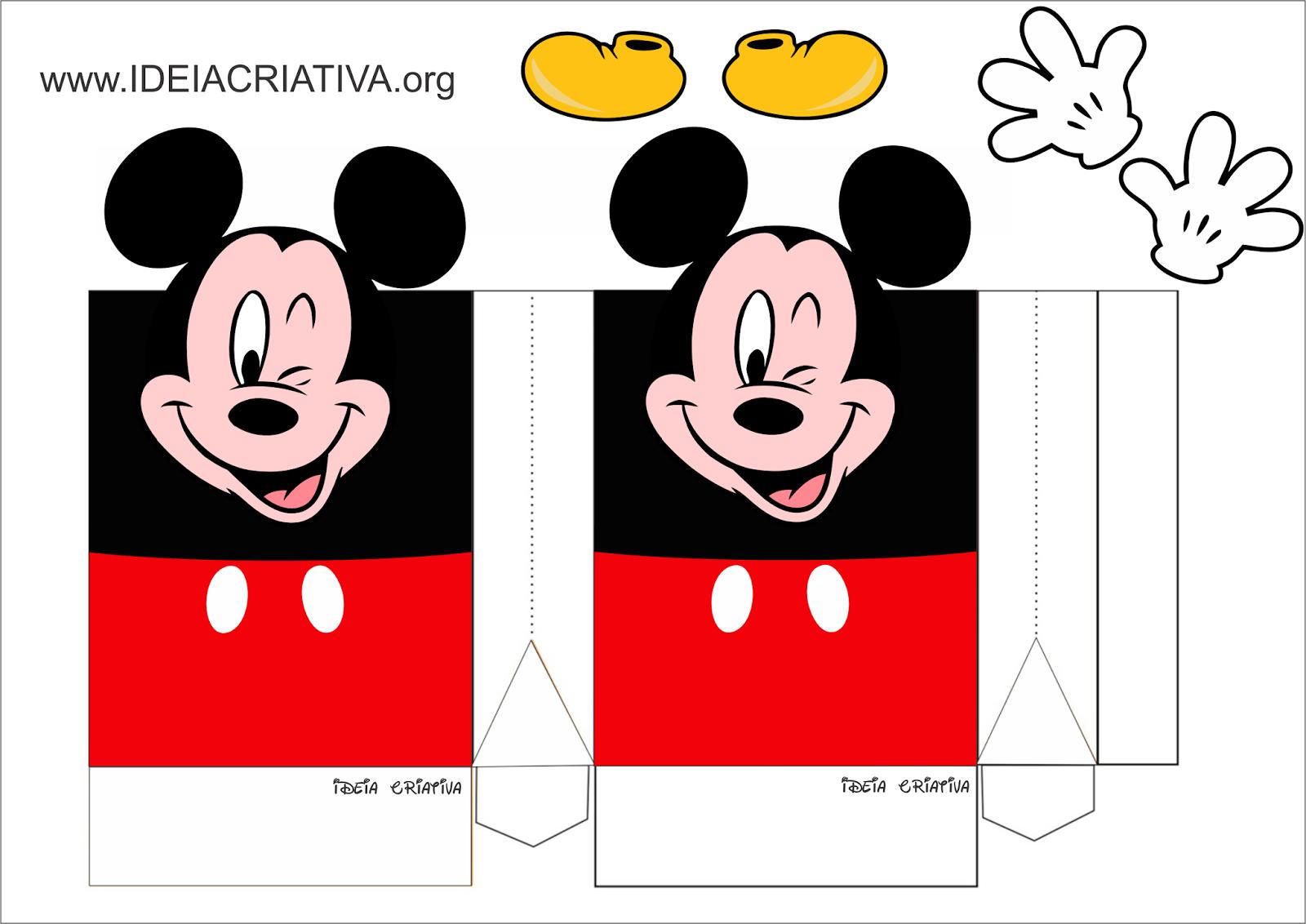 sacolinha Mickey personalizada festa de aniversário