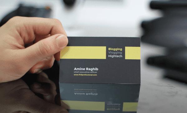 كيف تقوم بتصميم بطاقة اعمالك business card  دون الحاجة إلى برامج او ان تكون خبيرا ! وبالمجان