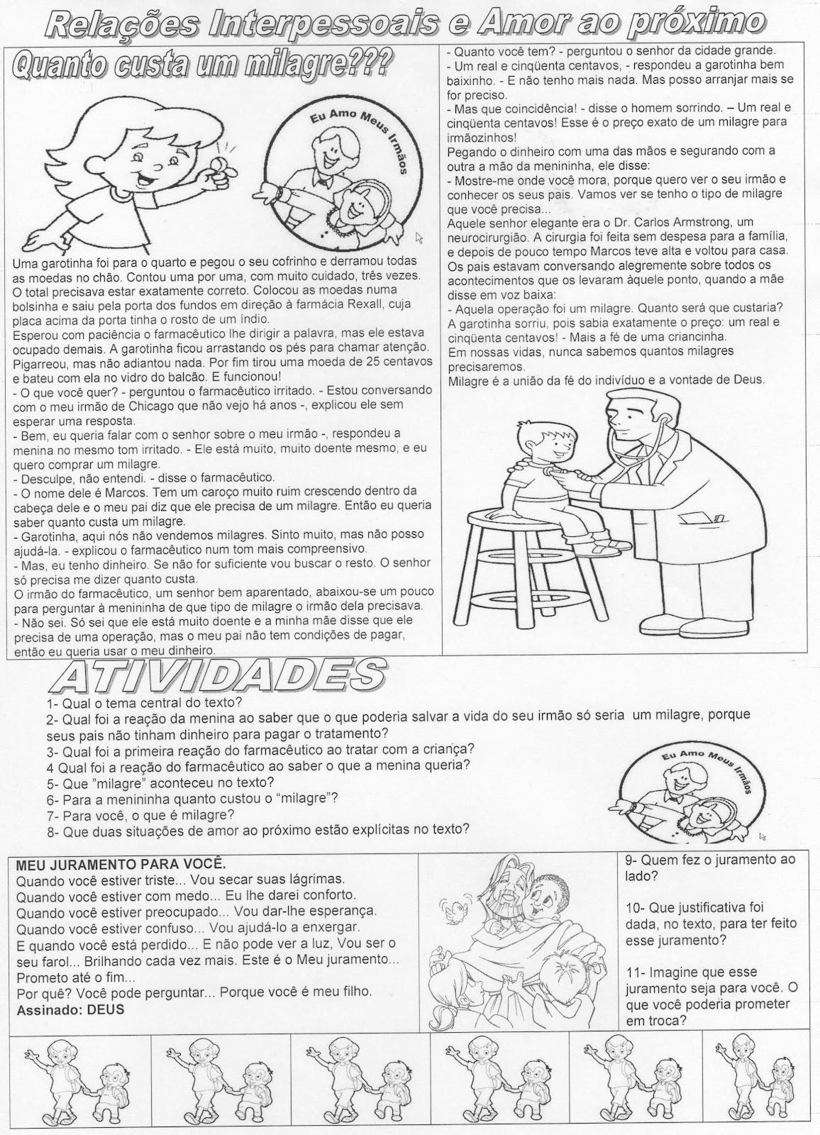 Favoritos ATIVIDADES DIVERSAS CLÁUDIA: Atividades de ensino religioso 6 TB56