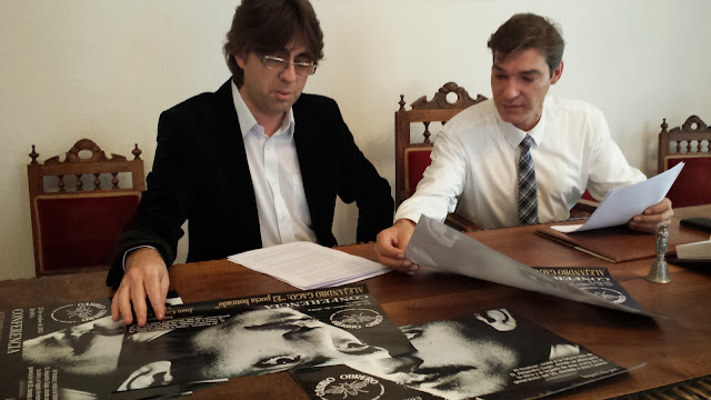 Luis Fracisco MArtin junto al presidente del casino, Francisco Arias