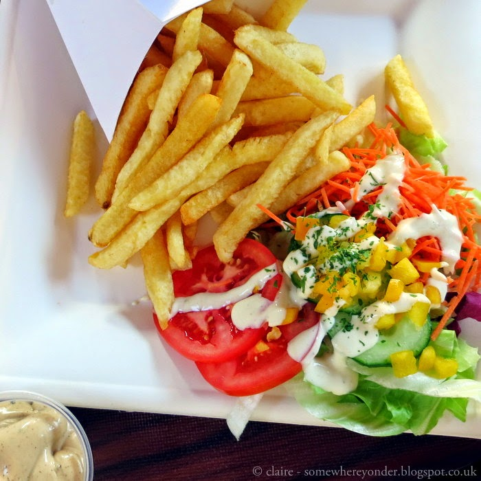 Belgium triple-cooked frites and salad