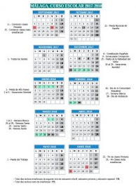 Calendario Escolar 2017-18                                                       MÁLAGA
