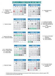 Calendario Escolar 2017-18                                                       MÁLAGA