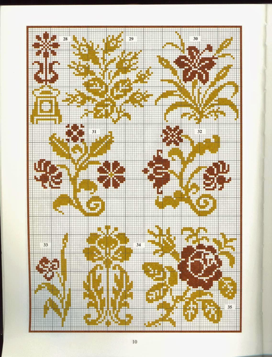 схема вышивки крестом подковка