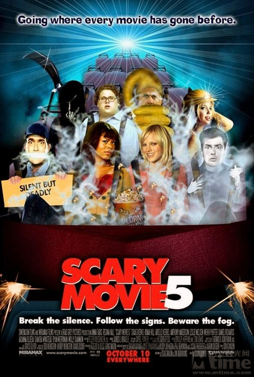 scary movies Scary movie - defying the very notion of good taste, scary movie out-parodies the pop culture parodies with a no-holds barred assault on the most popular.