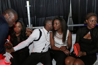 Genevieve Nnaji Parties with Dbanj and Sean Tizzle for Sean's Birthday.