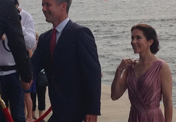 Crown Prince Frederik of Denmark and Crown Princess Mary of Denmark attend a concert in honor of Danish company Hempel's