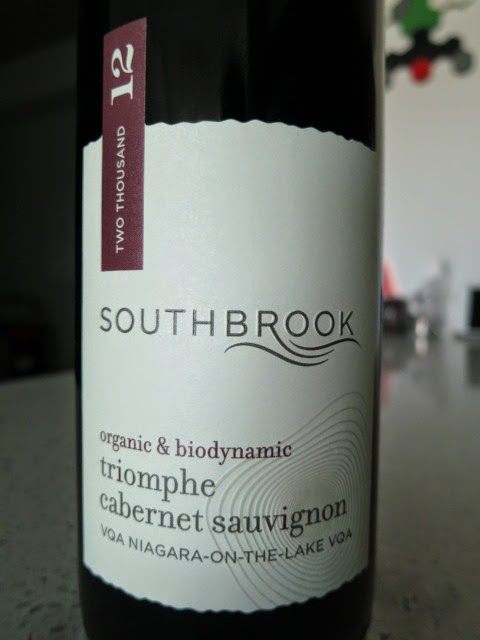 Wine Label of 2012 Southbrook Triomphe Cabernet Sauvignon from VQA Niagara-on-the-Lake, Ontario, Canada
