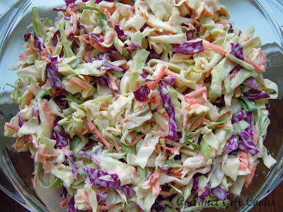 Gourmet Girl Cooks: Easy Tri-Color Coleslaw