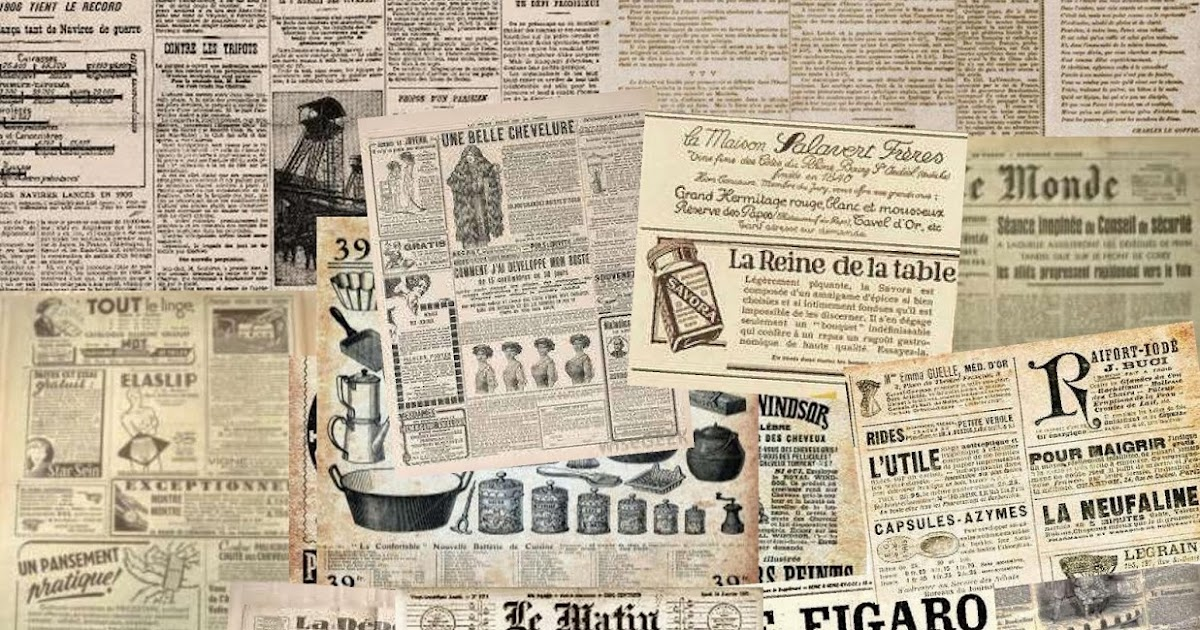 Make mine mini old newspaper collage sheets for your projects for Newspaper wallpaper