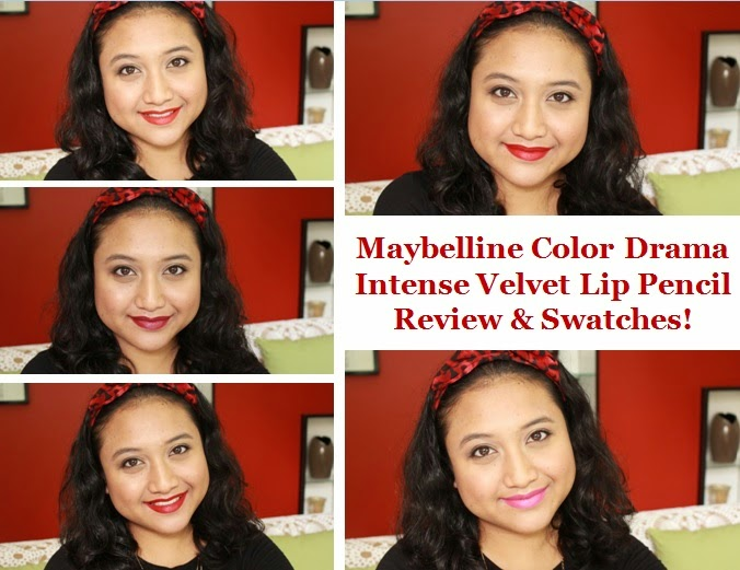 Maybelline Color Drama Intense Velvet Lip Pencil Review & Lip Swatches!