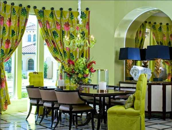green colours dining room