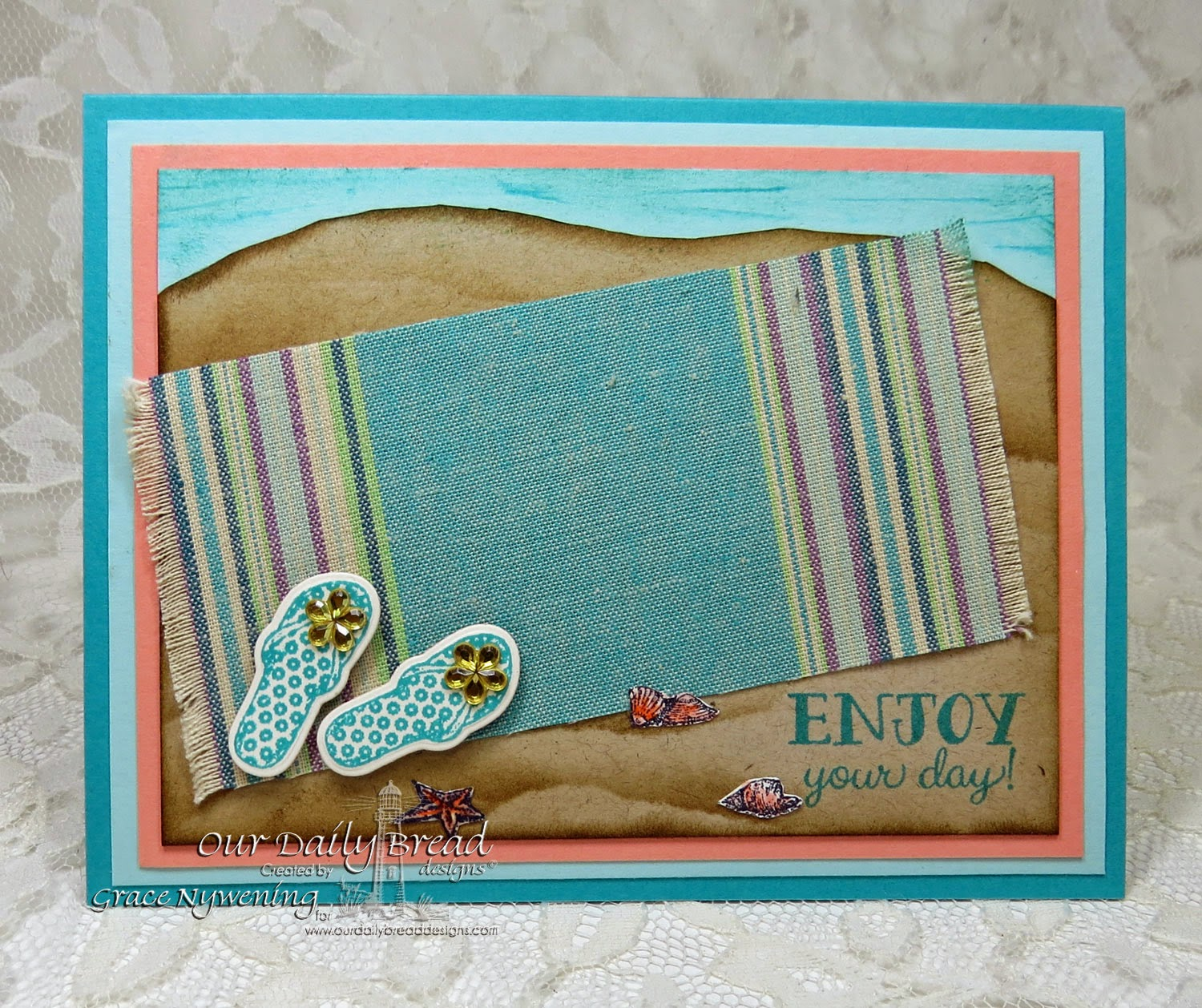 ODBD stamps: Flip Flop Fun, Anchor the Soul, designed by Grace Nywening