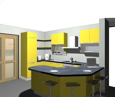 Come Disegnare Una Cucina. Cucina Con Cappa A Vista With Come ...