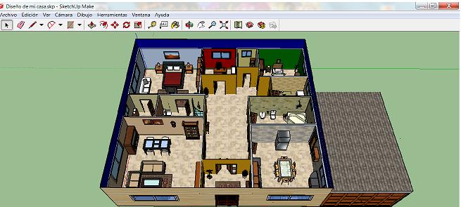 Madridismo puro sketchup dise ando mi propia casa - Crear mi propia casa ...