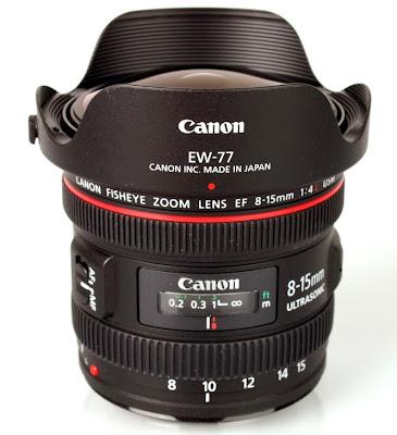 Lensa Canon EF 8-15mm f/4L Fisheye USM