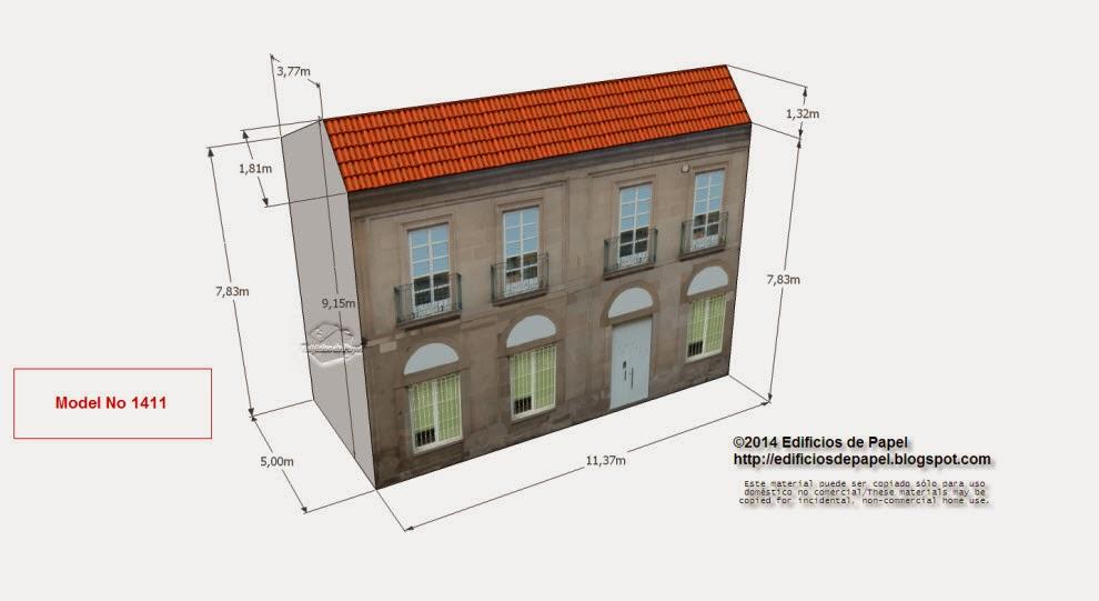 """Edificios de Papel - Modelo 1411 - Edificio Banco Avda Pontevedra. Serie """"Ourense"""" - """"Ourense"""" series."""