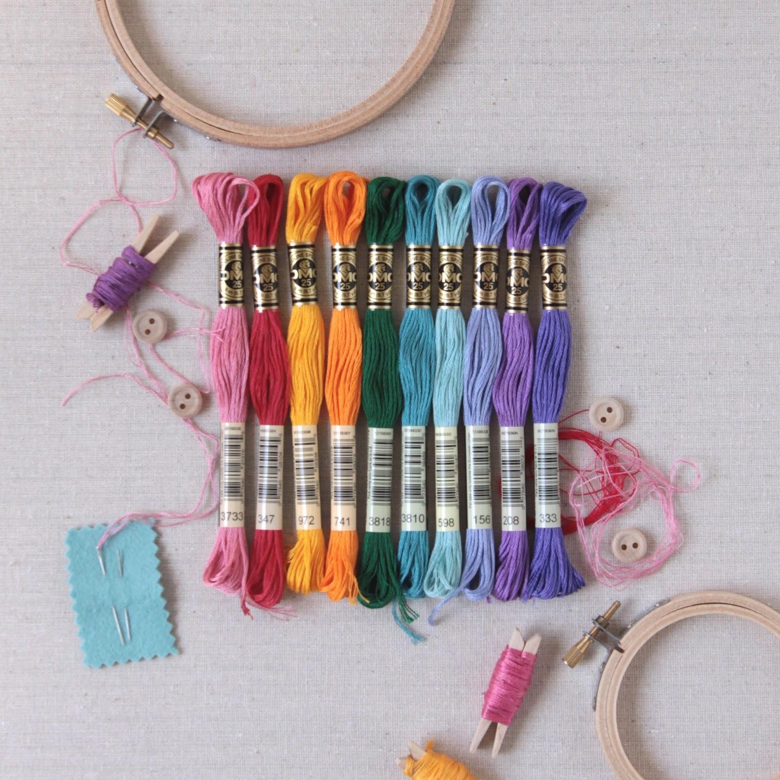 Benzie a fanfare of felt embroidery floss