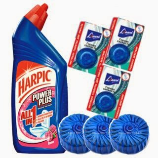 Buy Harpic Power Plus With Good Quality Toilet Brush at Rs.17
