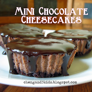 Mini Chocolate Cheesecakes by Cheng and 3 Kids