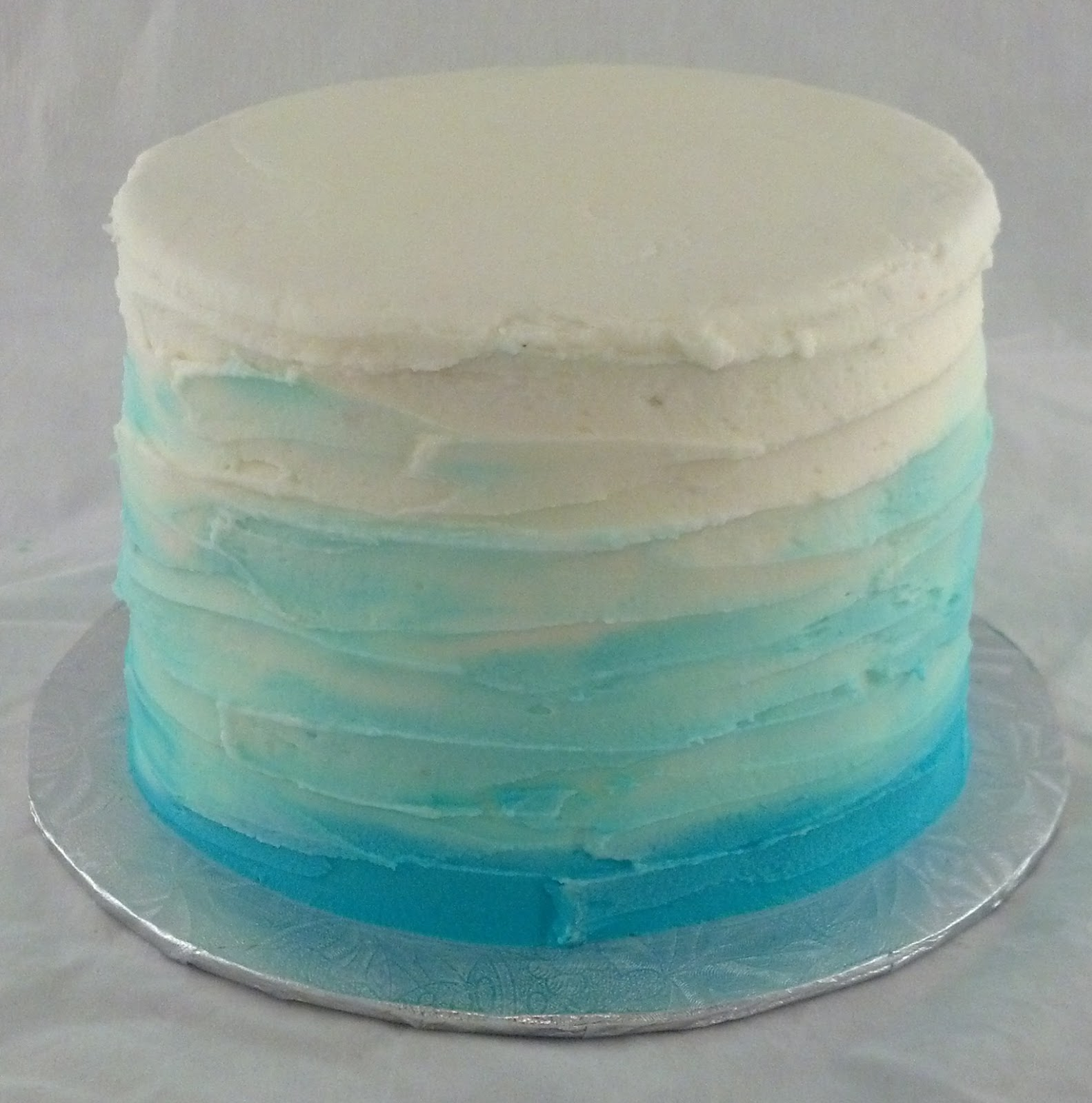 Sugar & Spice Sweets: Blue Ombre Smash Cake