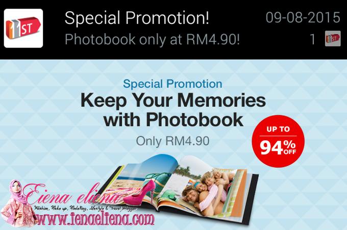 Photobook Bernilai RM85 dengan harga RM4.90 di 11street.my