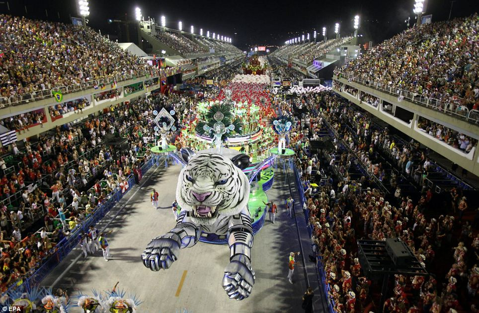 Flying tiger: The Brazilian carnival originated in the 19th century with small street performances but soon evolved into a grand visual feast.