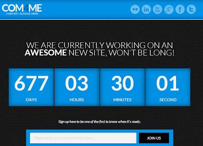 COM4ME Under Construction Blogger Template