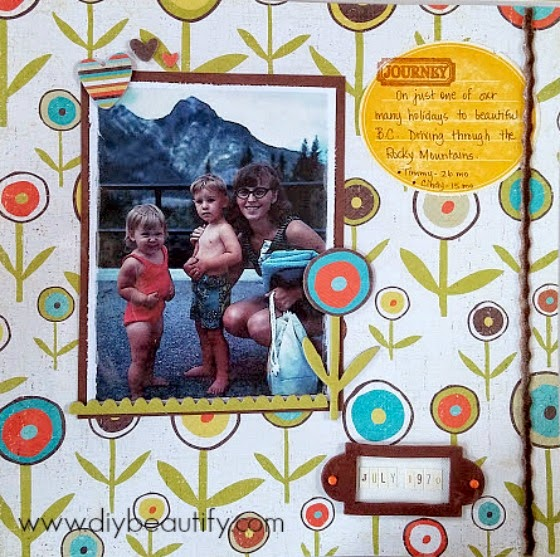 Tips for paper crafting with vintage pictures www.diybeautify.com