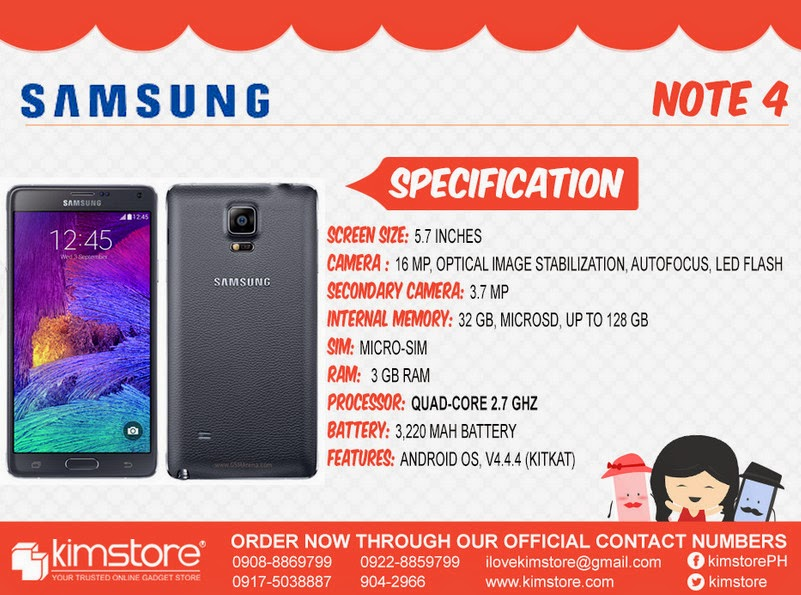 Samsung Galaxy Note 4 Kimstore