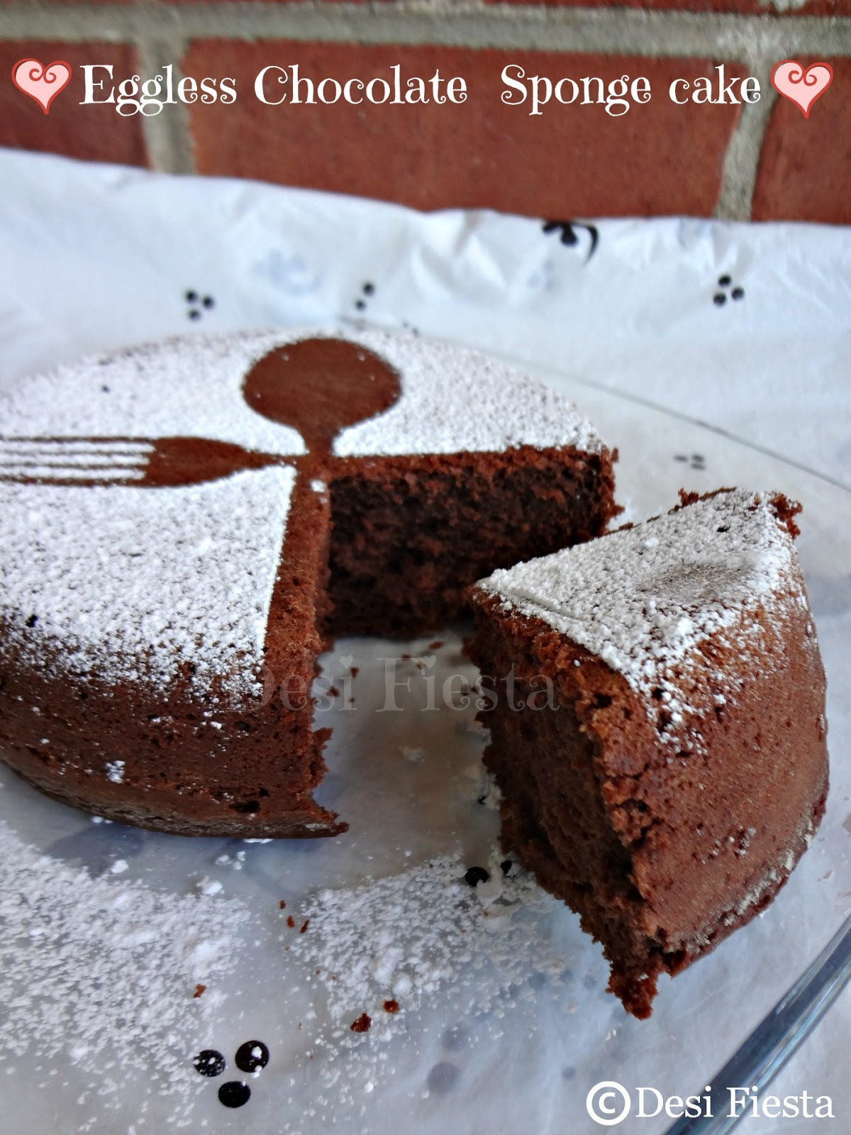 This is a chocolate sponge cake which is perfect with tea or coffee ...