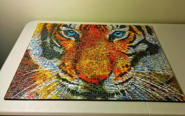 How to mount a jigsaw puzzle without glue - Tiger Photomosaic