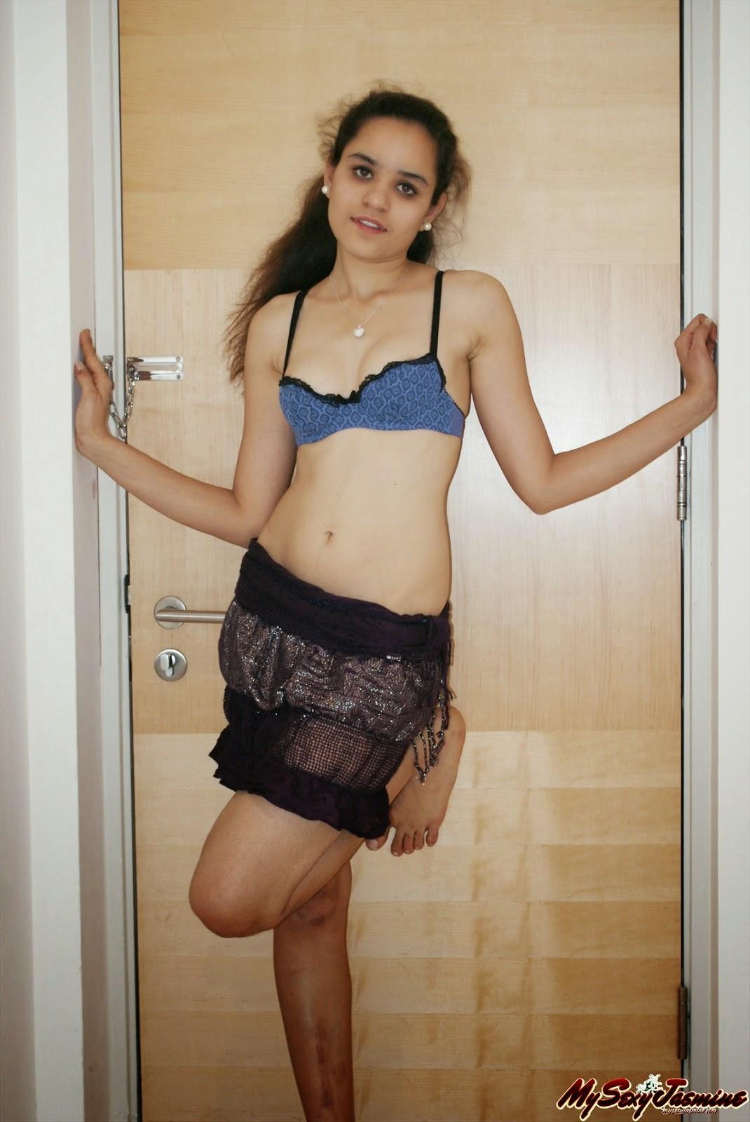 Hot bra girl in public