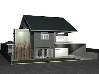 Desain Rumah Modern 20 x 23 M2