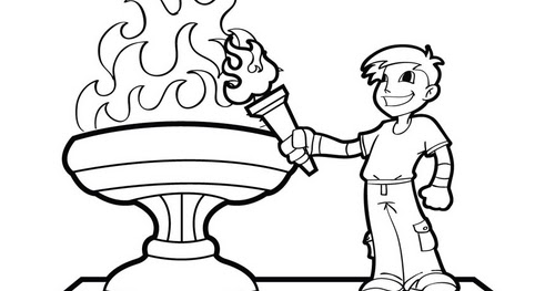 Olympic Coloring Pages olympic ring image to colour in click here