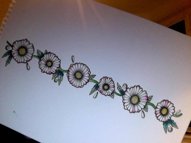 daisy chain tattoo design. Black Bedroom Furniture Sets. Home Design Ideas