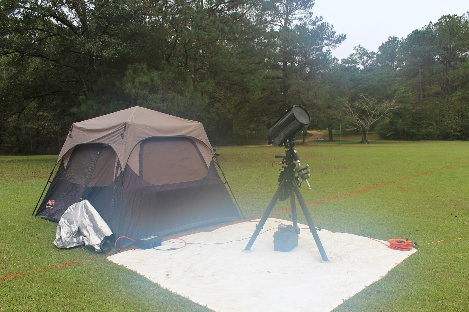 Having it on the field just a short distance from my scope setup is very convenient. The site has electrical hookups for up to 4 c&ing trailers ... & Luling Skies: 2015 Deep South Regional Star Gaze
